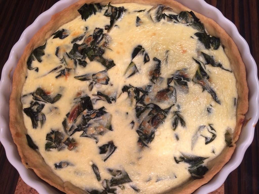 Mangold-Ziegenkäse-Quiche