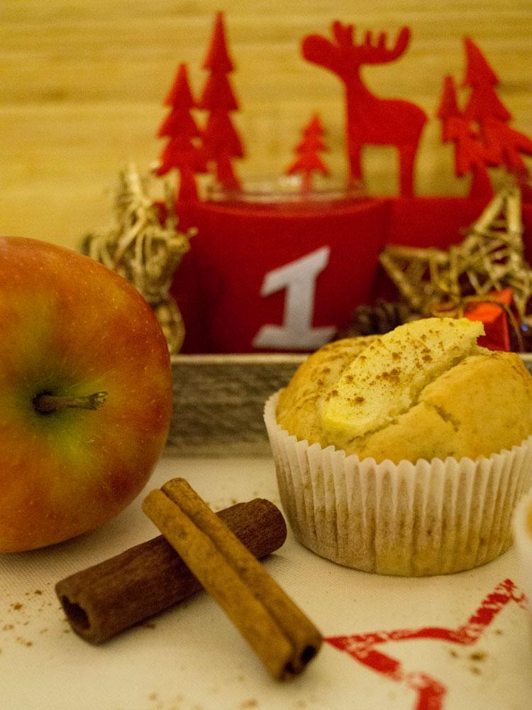 Apfel-Marzipan-Zimt-Muffins