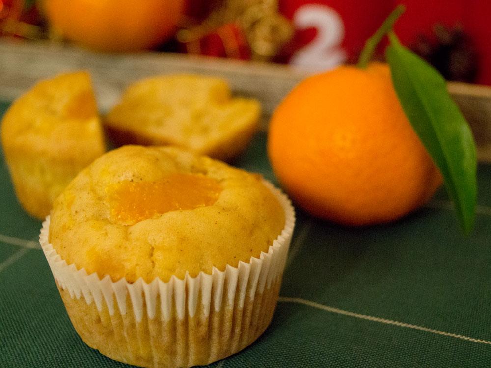 Adventsmuffins zum 2. Advent: Mandarine-Spekulatius