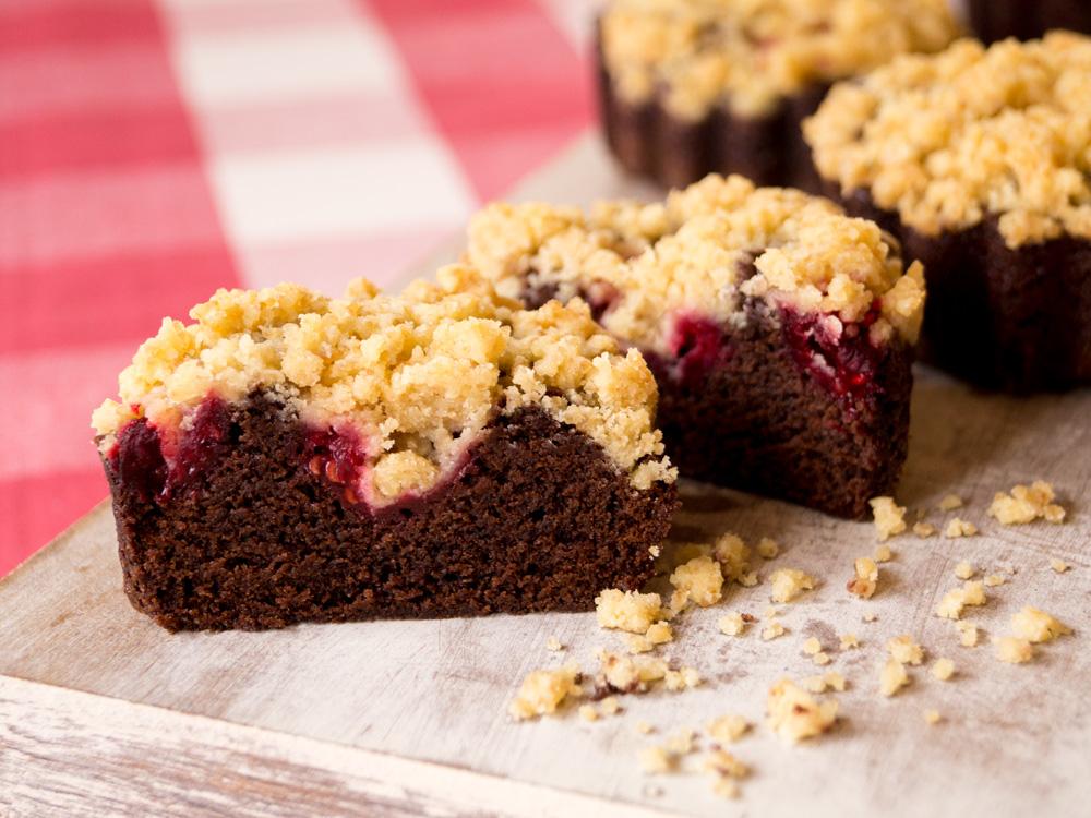 Himbeer Brownies Mit Streuseln Danielas Foodblog