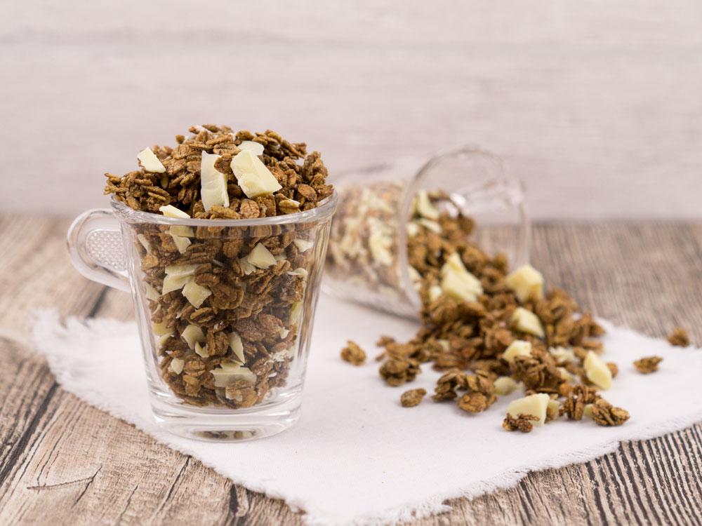 Histaminarmes Espresso-Müsli aus dem Ofen