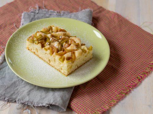 Rhabarber-Joghurt-Kuchen vom Blech