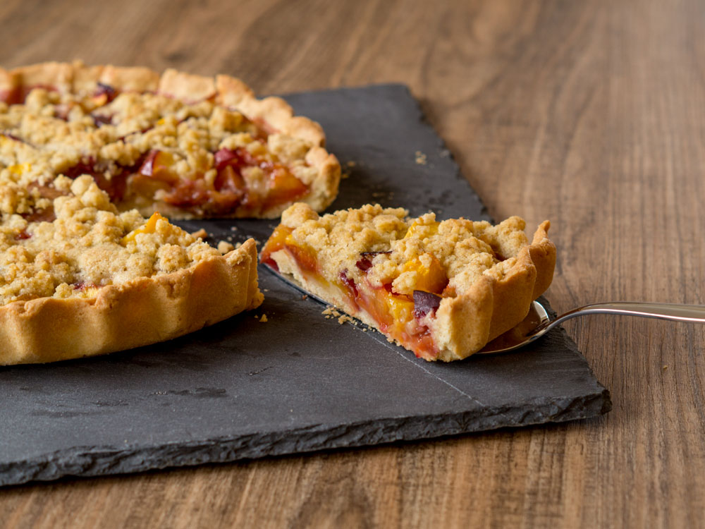 Happy #histaminfreiday mit Nektarinen-Crumble-Tarte