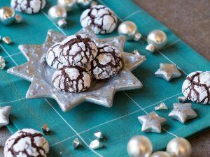 Schoko-Crinkle-Cookies